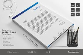 Business Letterhead Templates Word by Letterhead Stationery Templates Creative Market