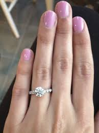 chagne engagement ring engagement wedding ring combo weddingbee