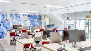 open plan workplace design office interiors maris interiors