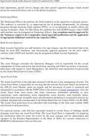Authorization Letter For Bank Cheque Book operational guide of the internal control framework for undp pdf