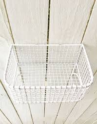 Shabby Chic Wire Baskets by Chippy White Shabby Chic Wire Basket Lotion Holder Wall