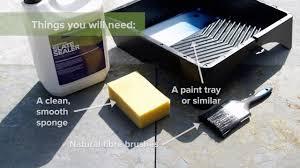 Slate Patio Sealer by How To Seal Natural Slate Tiles Satin Gloss Sealer Sc4u