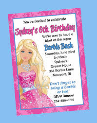 Free First Birthday Invitation Cards Best Barbie Birthday Invitation Card Free Printable 29 With
