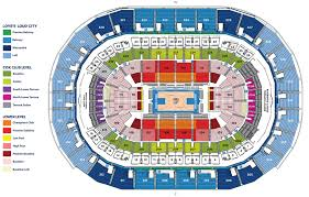 stadium floor plan seating chart oklahoma city thunder