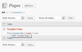 sample page categories pages and posts in wordpress