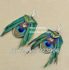 peacock feather earrings s diamond clip in on hair extension women s fashion feather