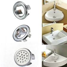 sink overflow cover oil rubbed bronze 2pcs bathroom sink overflow trim ring chrome hole cover cap round