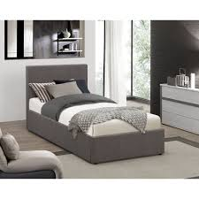 ottoman bed single berlin grey fabric single ottoman bed bedroom from mdm furniture