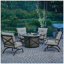 Wilson And Fisher Wicker Patio Furniture Wilson U0026 Fisher Santa Fe 5 Piece Fire Table Chat Set At Big Lots