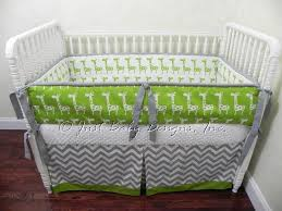 Gray Chevron Bedding Custom Crib Bedding Set Dexter Giraffe Lime Babybedding
