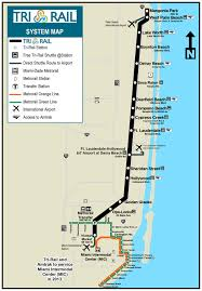 Florida East Coast Map by Official Map Tri Rail Commuter Rail Southern Transit Maps