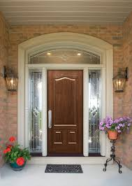 furniture design the brown polished wood glass entry doors added