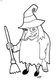 drawn witch halloween coloring page pencil and in color drawn