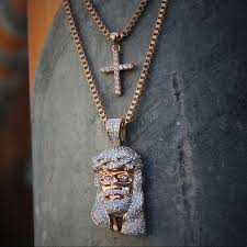 jesus piece necklace images Tsv jewelers accessories rose gold jesus piece and cross jpg