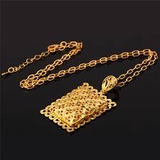 gold big pendant necklace images Big pendant necklace gold color vintage hollow out rectangle jpg