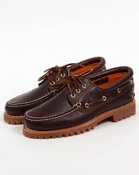 timberland 3 eye classic lug shoes brown boots boat deck mens