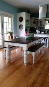 Bench Dining Table Diy Farmhouse Table And Bench White Banister Farmhouse Table