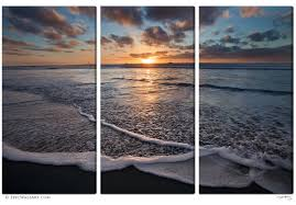 san diego sunset wave add the stunning sights of a gorgeous san diego sunset to any wall with this jaw dropping triptych 3 piece wall mural captured from south mission beach