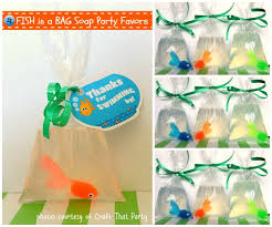 piggy bank party favors 49 best goldfish birthday party ideas images on