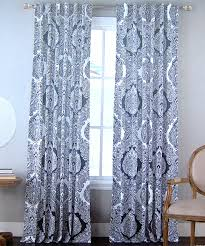 Navy Window Curtains Envogue Window Curtains Paisley Damask Medallions