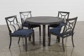 Outdoor Dining Rooms by Martinique 5 Piece Outdoor Dining Set Living Spaces