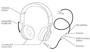 amazon com jabra revo corded stereo headphones retail packaging