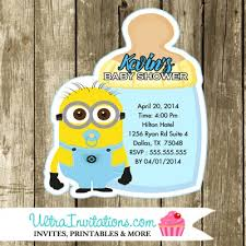 minion baby shower minions baby shower invitations die cut printable party