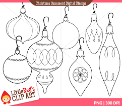 ornaments thin outline clipart