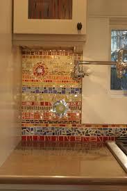 mosaic kitchen backsplash kitchens colorful glass and ceraminc mosiac tile backsplash 18