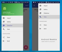 tutorial android menu bar tutorial double navigation drawer android left and right android