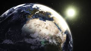 satellite map hd earth space extruded turning spinning globe world blue marble