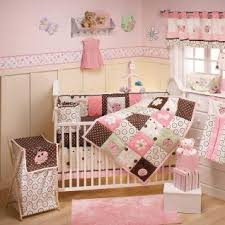 Pink Brown Crib Bedding Sugar Spice And Everthing Pink Brown And Green Ladybug
