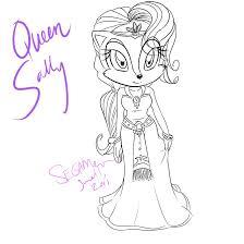 comm queen sally acorn by segamew on deviantart