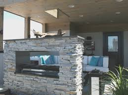 fireplace cool double sided fireplace indoor outdoor beautiful