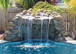 Backyard Pool With Slide - rock waterfalls caves and slides ultimate pools by fetter
