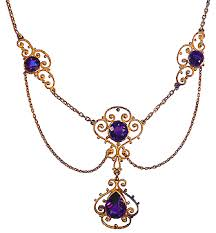 amethyst jewelry necklace images Edwardian festoon necklace with amethysts bijoux extraordinaire gif