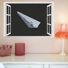 online get cheap removable wall art decals aliexpress com star wars x wing window wall stickers for kids rooms home decor living room bedroom diy mural art decals removable wall sticker