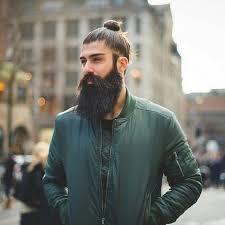 top knot hairstyle men knot bun for long hair