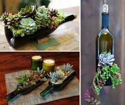 wine bottle succulent planter easy diy video tutorial bottle