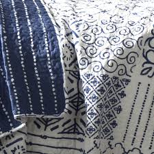 amazon com lush decor monique 3 piece quilt set full queen blue