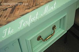 the perfect mint color and herringbone desk classy clutter