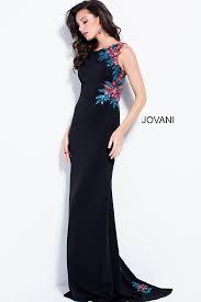 black multi long fitted floral sequin embellished sheer back dress