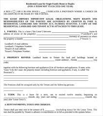 residential lease agreements 10 free samples examples u0026 formats
