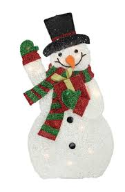 Costco Lighted Snowman by