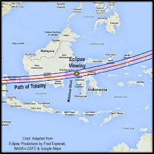 Eclipse Maps 2016 Indonesia Total Solar Eclipse The Eclipse And Weather