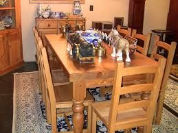 Rustic Pine Dining Tables 20c Vintage Irish Farmhouse Pine Kitchen Table And 8 Chairs