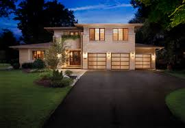 Painting Aluminum Garage Doors by The Garage Door Design Keeps This House From Look Like A Brick