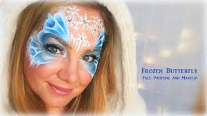 frozen butterfly makeup and face painting youtube