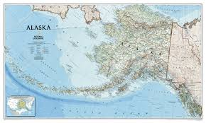 Southeast Alaska Map Alaska Wall Map Laminated Reference U S National Geographic