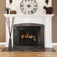 pleasant hearth midnight black medium cabinet style fireplace